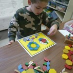 Cubes and Parquetry Pieces